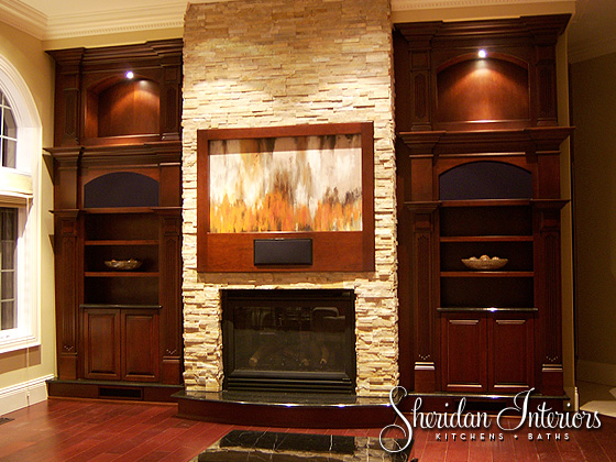 Transitional Custom Cabinetry - Sheridan Interiors