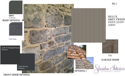 Exterior Finishes Options - Sheridan Interiors