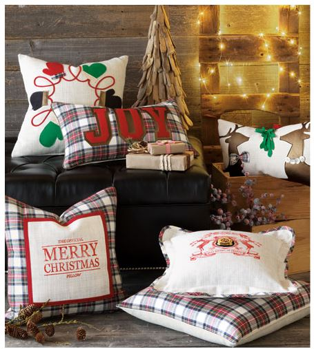 Preppy Christmas Pillows - Sheridan Interiors
