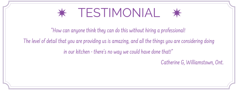 testimonial from satisfied client, testimonial for sheridan interiors, kitchen designer cornwall, kitchen designer ottawa, sheridan interiors kitchens and baths