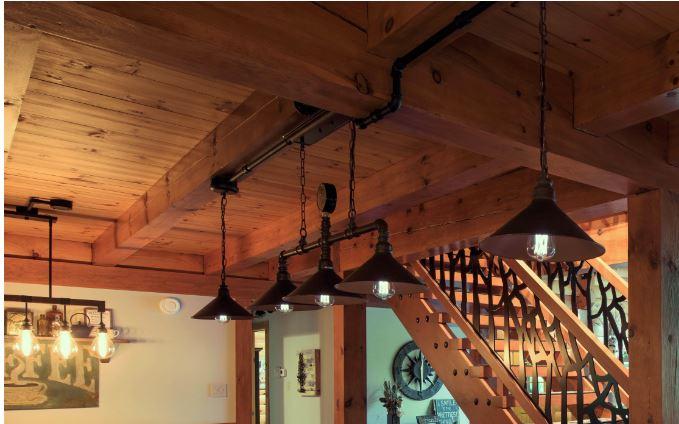 Log Cabin Lighting, Sheridan Interiors, Interior Designer Cornwall, Interior Designer Ottawa, K6H 6M4, K1K 4H9