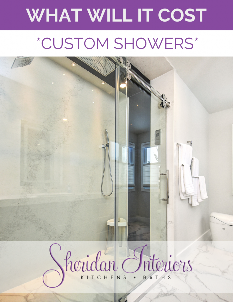 how much does it cost for a custom shower, sheridan interiors, interior designer cornwall, interior designer ottawa, bathroom design, bathroom renovation