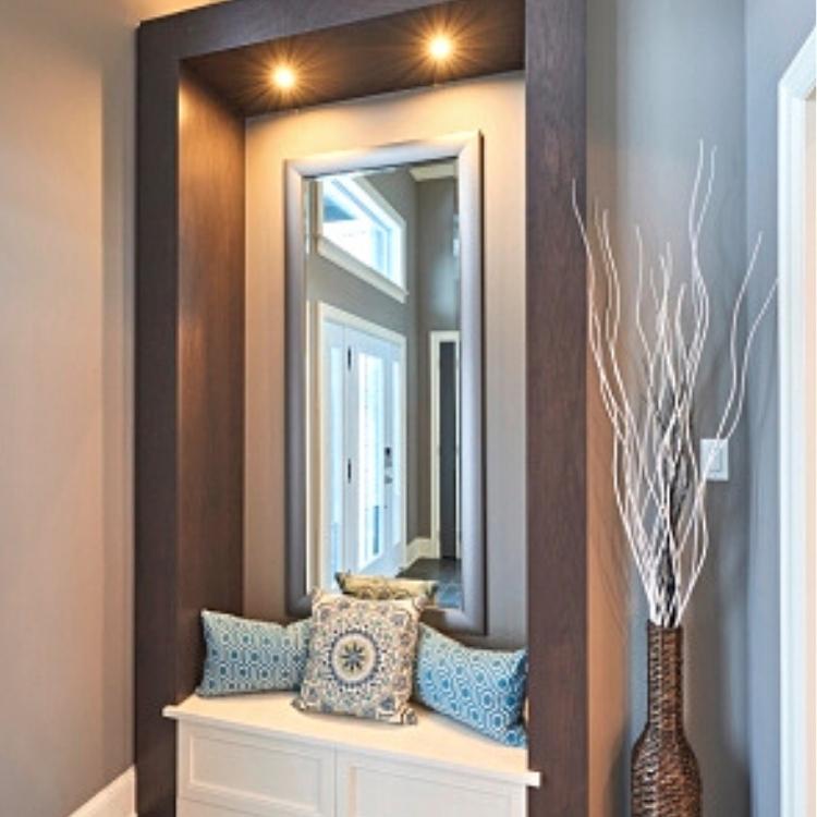 modern foyer entry, custom cabinet entryway modern, modern foyer, sheridan interiors, interior designer cornwall, interior designer ottawa